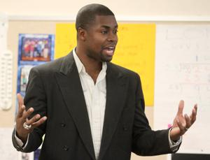 Cedric James Visits West Ward Elementary School
