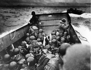 Omaha Beach landing June 6, 1944