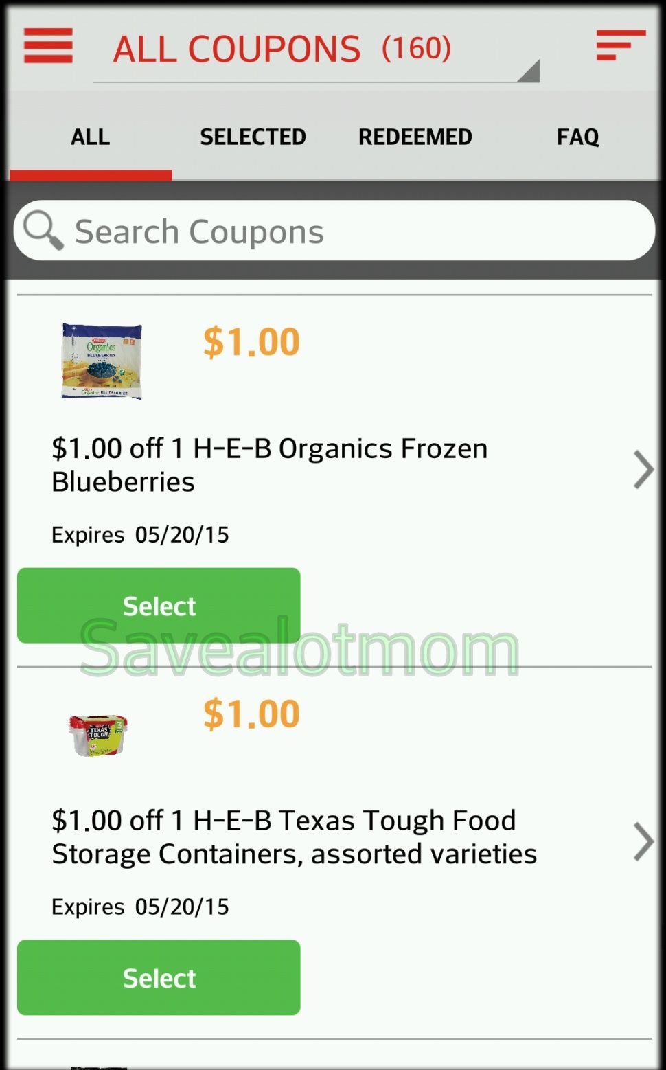It 39 s here heb digital coupons and phone app for Garage appeal coupon code