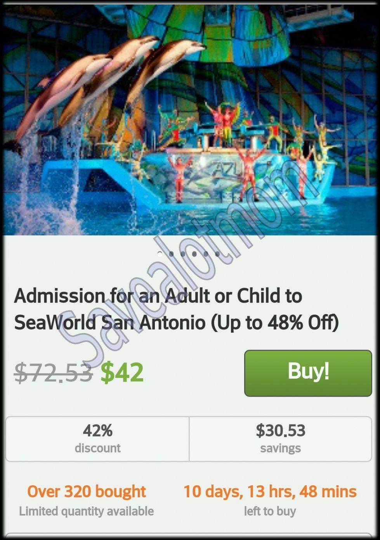 Seaworld california discount coupons