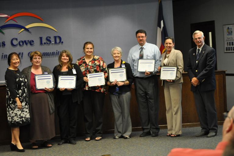Cove ISD principals honored by state, city and chamber