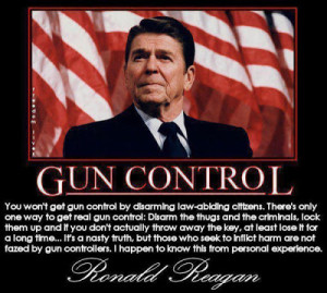 Reagan on gun control