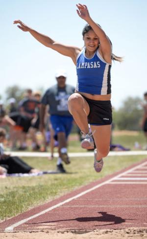 Triple jump athlete