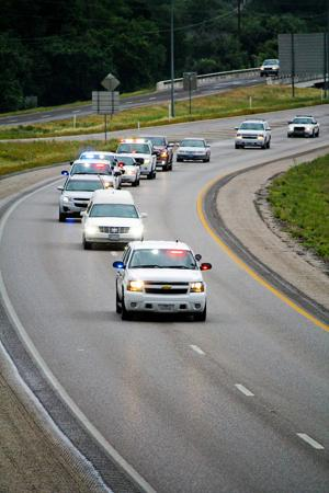 KPD officer escort