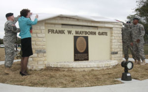 Frank W. Mayborn Gate dedication
