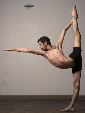 Yoga For Men: Adrian Hummell strikes a yoga pose. Studies suggest that practicing yoga has many benefits, such as lowering heart rate and blood pressure and relieving anxiety, depression and insomnia, but men are a definite minority among its practitioners. - Marvin Joseph | Washington Post