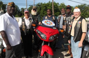 Veterans ride motorcycles for VFW awareness
