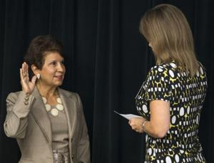 Judy Morales takes oath of office