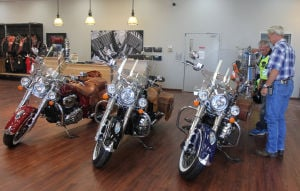 Motorcycle sales topic of discussion