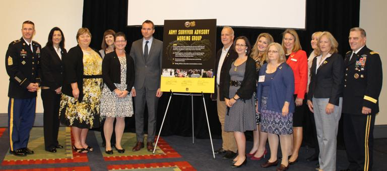 Army leaders show support for group that comforts, guides survivors