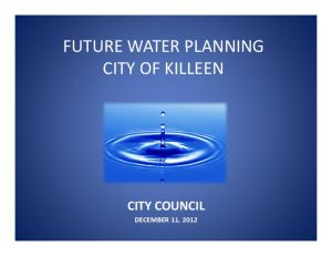 Killeen Future Water Use