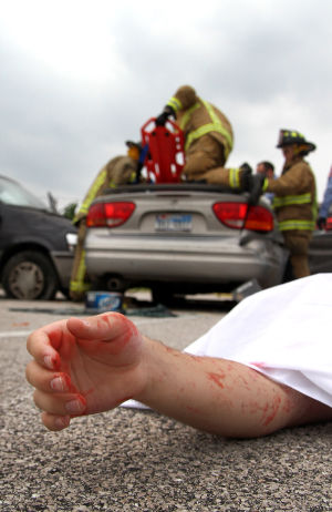 Mock Crash at Ellison
