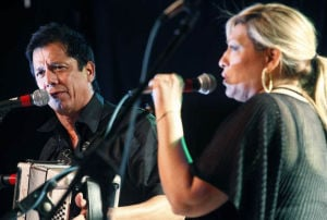 Joel Guzman And Sarah Fox: Conjunto traditionalists, Grammy-winners Joel Guzman and Sarah Fox will bring the sounds of Tejano roots music to the stage Saturday at Temple's Cultural Activities Center. - Courtesy photo