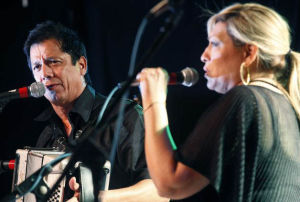 Joel Guzman And Sarah Fox: Conjunto traditionalists, Grammy-winners Joel Guzman and Sarah Fox will bring the sounds of Tejano roots music to the stage Saturday at Temple's Cultural Activities Center. - Photo by Courtesy Photo
