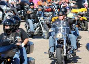 18th Annual Bell County Toy Run: Riders begin the 18th annual Bell County Toy Run on Sunday, Nov. 17, 2013, at Fort Hood Harley-Davidson in Harker Heights. - Photo by Herald/CATRINA RAWSON