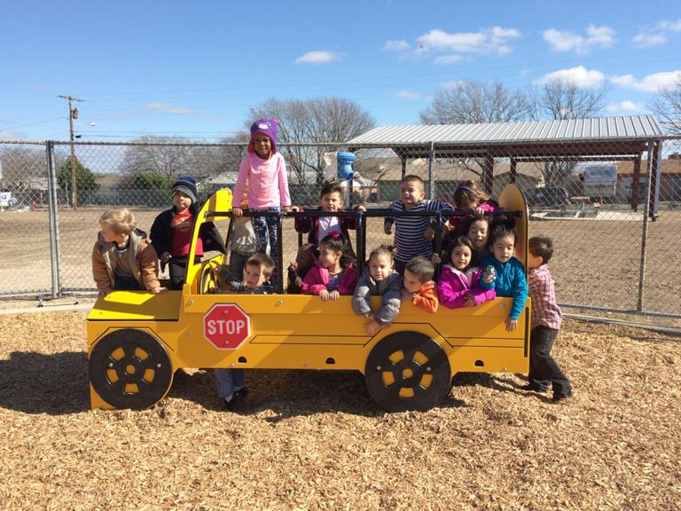 Mae Stevens students excited as ribbon cut on new playground