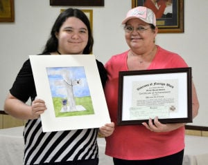 Cove students' patriotic art honored by VFW