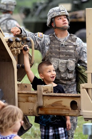 Manor students learn about combat vehicles