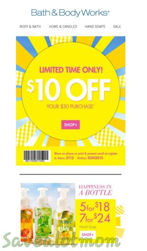 Bath and body works free shipping coupons 2019