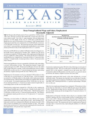 Texas July labor report