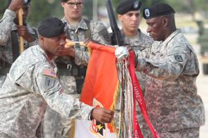 11th Signal Brigade uncasing ceremony