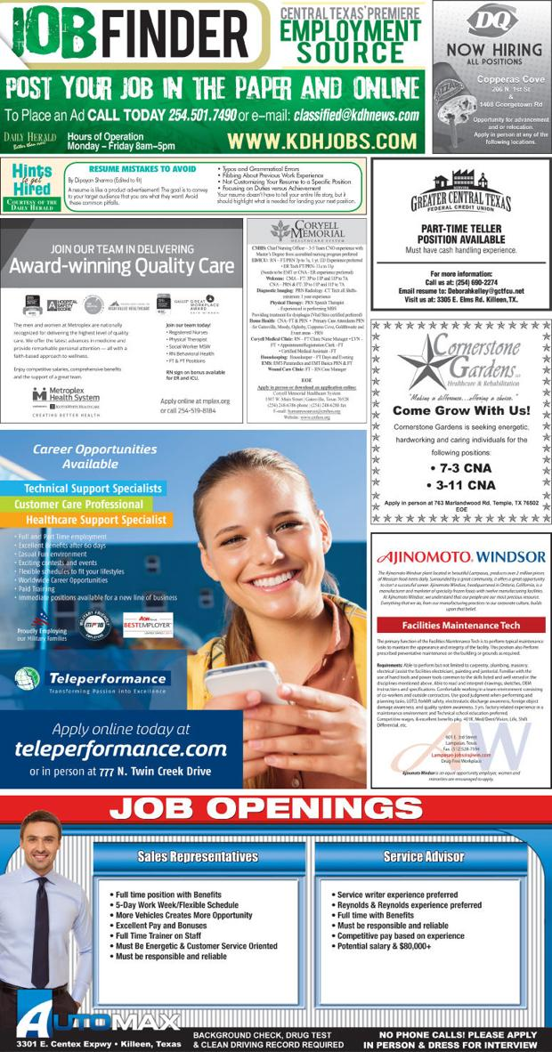 Job Finder 9/15/16