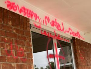 Central Christian Church Vandalized