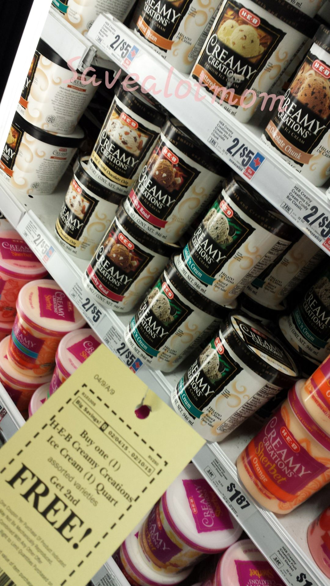HEB BOGO Ice Cream 1 Quart