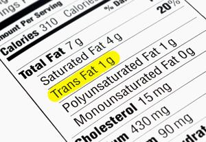 Read labels carefully and avoid trans fats for heart health