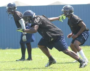 Shoemaker High School Football Practice