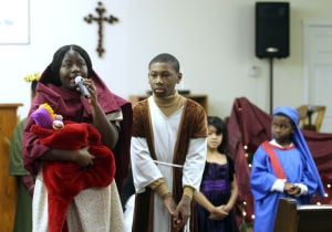Church Play/toy Giveaway: Children and members from the Bountiful New Life Church of God in Christ present