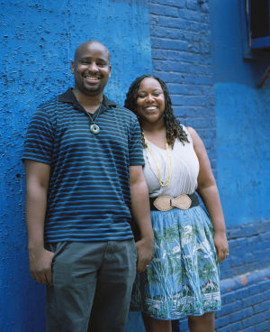 "DESIGN-APHROCHIC: Philadelphia husband-and-wife design team Bryan Mason and Jeanine Hays have a new book out, ""Remix: Decorating with Culture, Objects and Soul."" - Patrick Cline/From ""Remix"""