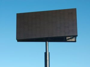 Digital sign installed near U.S. Highway 190