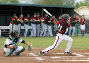 Harker Heights At Ellison Baseball: Harker Heights' Tyler Torres hits against Ellison on Friday. Heights won 5-3 at Ellison. - Jen Morgan   Herald
