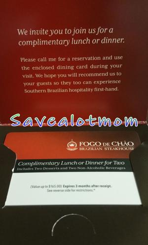 *GIVEAWAY!* Fogo De Chao Brazillian Steakhouse for Two! (Up to $165 value!)