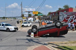 Car crash on Fort Hood Street