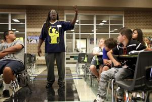Killeen Poetry Slam performs for Charles Patterson Middle School