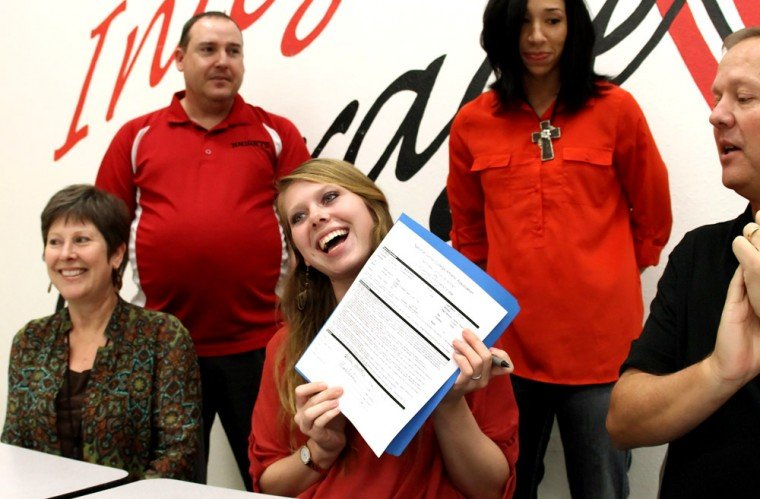 Heights Volleyball Signing