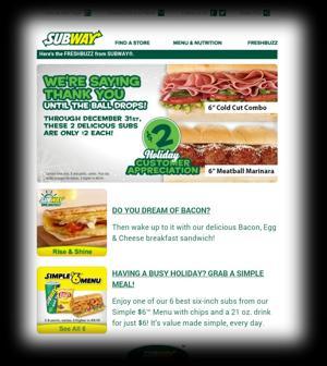 Subway's $2 Subs!