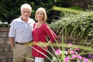 Sunken retreat: Pa. garden features colorful flowers, true hardscape