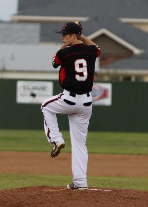 Harker Heights At Ellison Baseball: Harker Heights' Caleb Dean pitches against Ellison on Friday at Ellison. - Jen Morgan   AP