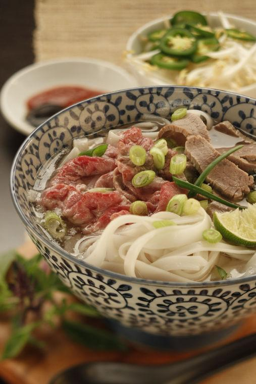 Vietnamese soup's built on spiced broth and add-your-own garnishes