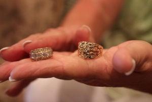 Detective wedding rings