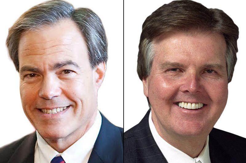 House Speaker Joe Straus (left) and Lt. Gov. Dan Patrick.