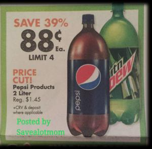 $.88 Pepsi Soda at Big Lots!
