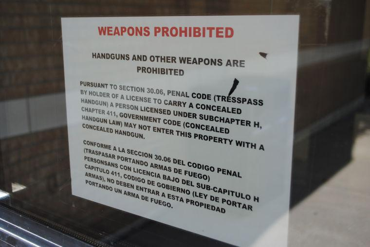 Weapons prohibited