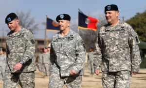 Division West change of command