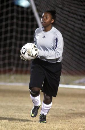 Shoemaker Goalie Keandra Gray