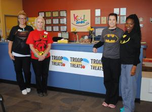 Kool Smiles collecting candy for troops