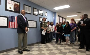 Freedom Shrine dedicated at Eastern Hills Middle School
